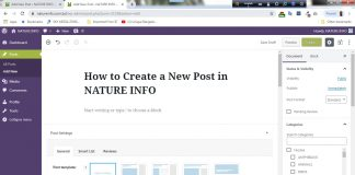how to create a new post in NATURE INFO